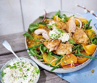 Recept: Citron- och fänkålsstekt kycklinglårfilé med fetaostcrème