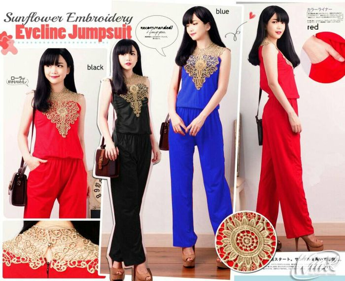 Jual jumpsuit renda gold W 4060703 - echo | Tokopedia