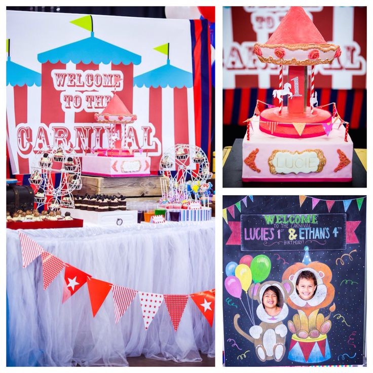 Planning a circus or carnival party? See this carnival themed birthday party on Kara's Party Ideas!