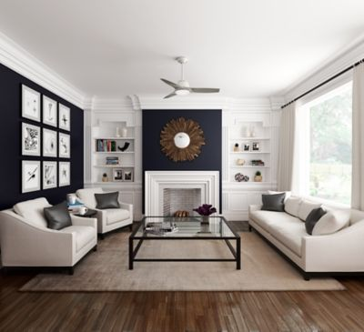 White Wisp Ceiling Fan That Has A Contemporary Style And Is Meant For Indoor Small Room