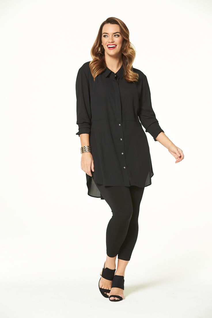 Style Hero Long Shirt in Black
