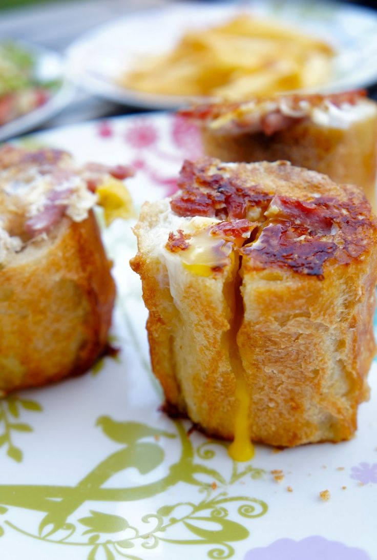 Que faire avec un reste de # baguette ? Oeufs au bacon revisités #antigapsi