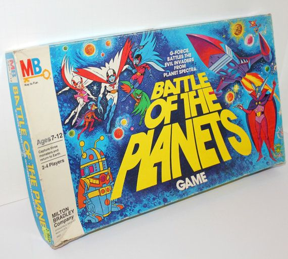 vintage battle of the planets game mb board space by. Black Bedroom Furniture Sets. Home Design Ideas