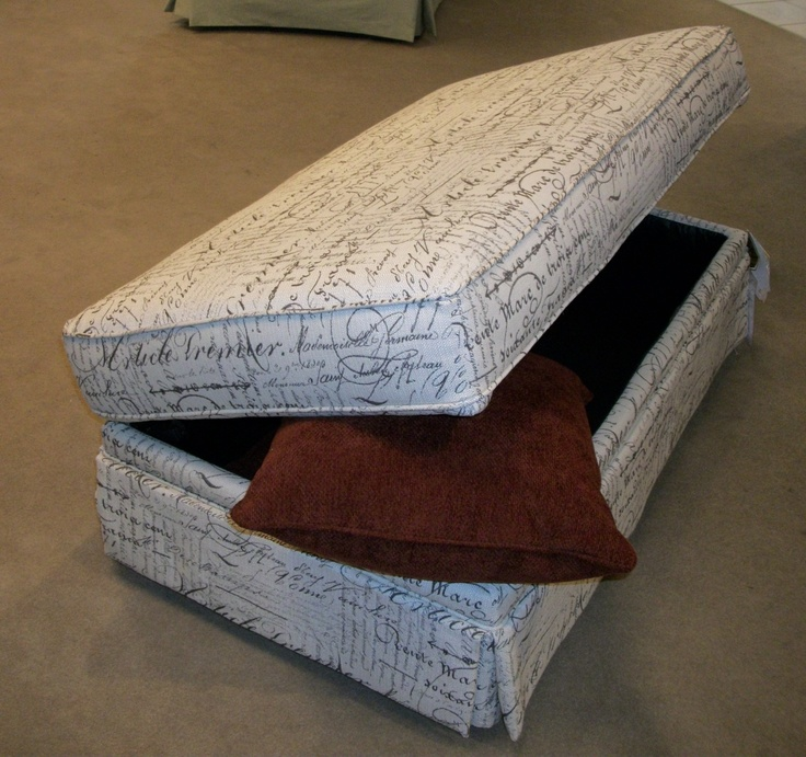 Storage Ottoman By Best Home Furnishings In Script Fabric.