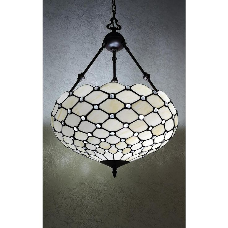 Amora Lighting 3 Light Tiffany Style Jeweled Hanging Pendant Am1117hl18b The Home Depot Hanging Pendants Tiffany Style Handcrafted Lamp