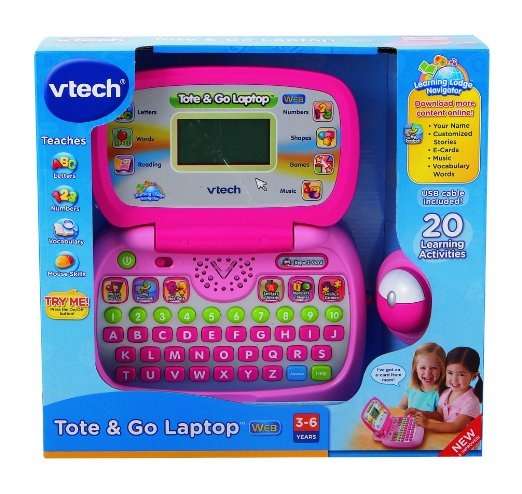 Amazon.com: VTech - Tote & Go Laptop with Web Connect - Pink: Toys & Games