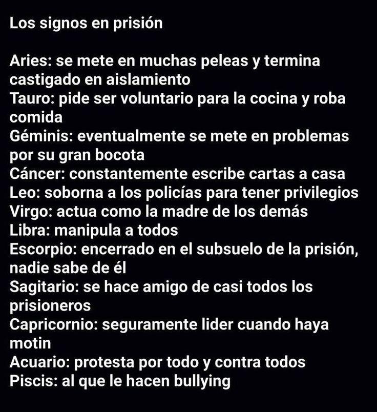 Los signos en prisión