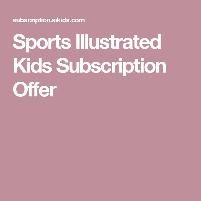 Sports Illustrated Kids Subscription Offer
