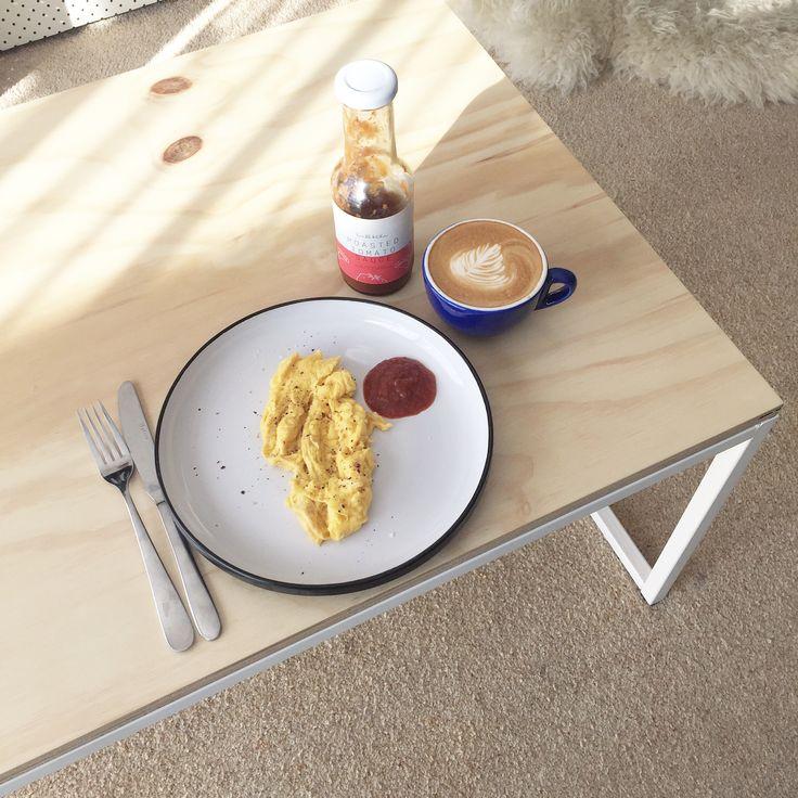 Coffee table  mild steel plywood top