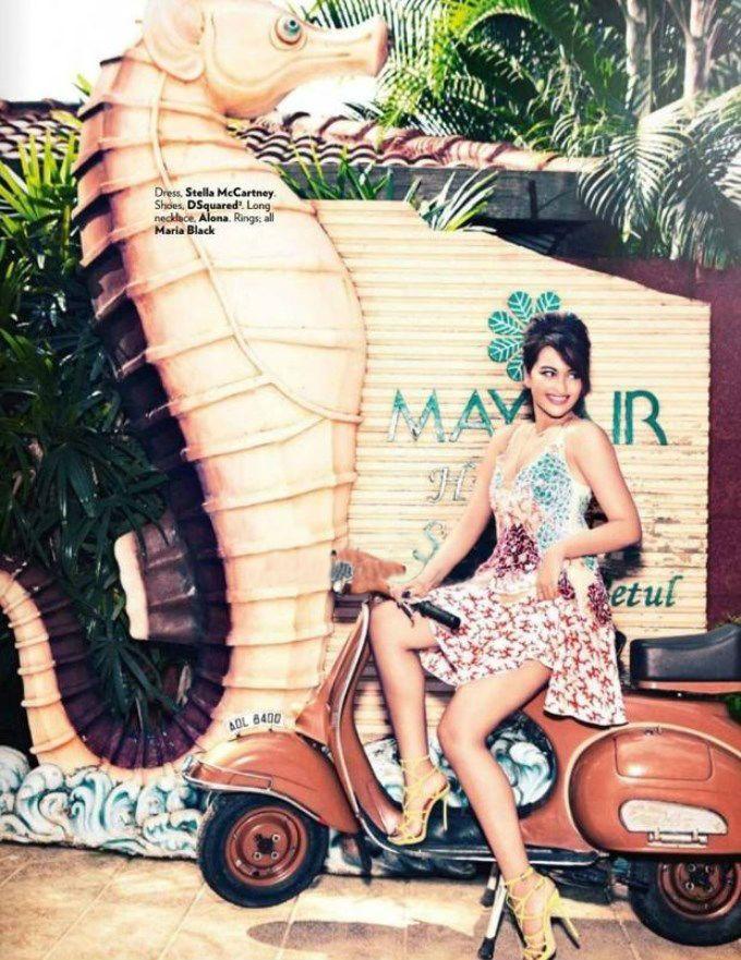 Sonakshi Sinha posing for Vogue magazine India. #Bollywood #Fashion #Style #Beauty #Photoshoot