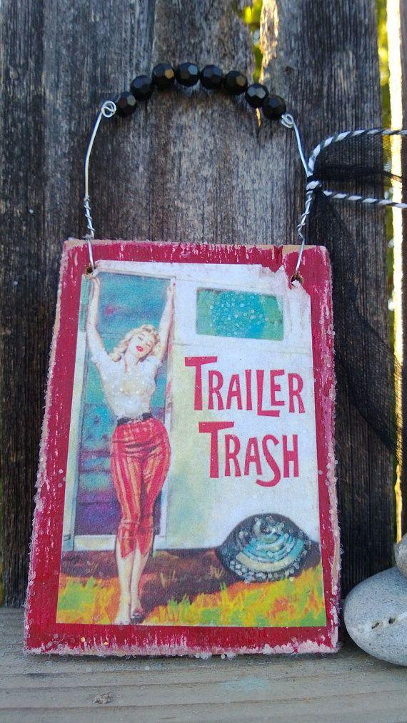 Wood trailer trash