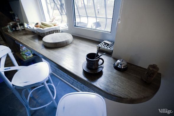 Solution for a small appartment: windowsill like a table