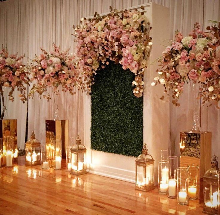 25 best ideas about stage backdrops on pinterest stage for Floral wedding decorations ideas