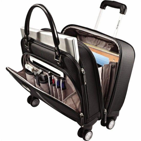 Samsonite - Business Women's Mobile Office Rolling Laptop Spinner - Black - AlternateView11 Zoom
