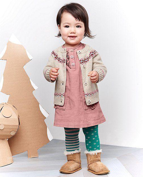 4ca7399de3ba Sweet Fair Isle Cardigan by Hanna Andersson | HA + BABY / TODDLER | Cute  kids fashion, Dress with cardigan, Baby girl fall