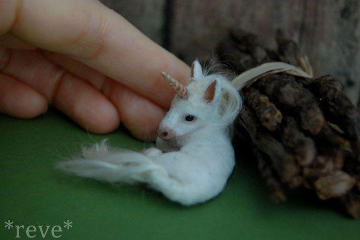 Baby Unicorn * Handmade Sculpture * by ReveMiniatures
