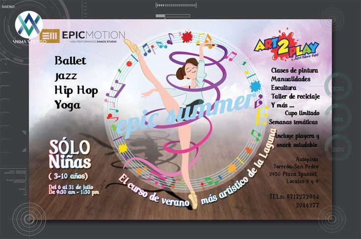 #Flyer, #Art2play, #Epicmotion, #Animavertigo, Curso de verano