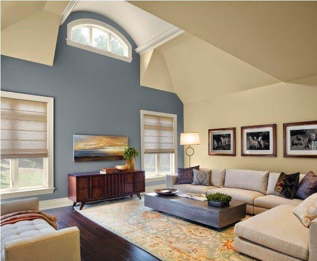 Malerei Akzent Wand Wohnzimmer #modern #braunbeige #graueswohnzimmer #wall  #kamin #ideen