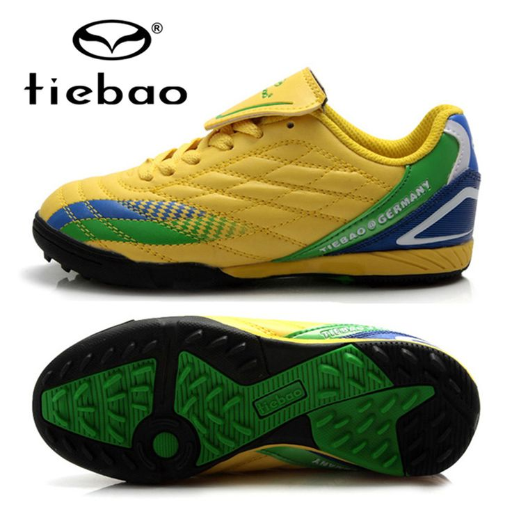 TIEBAO Football Boots Children Kids Outdoor TF Turf Sloes Football Shoes Sneaker Running Shoes For Girls Boys Teenagers Kids