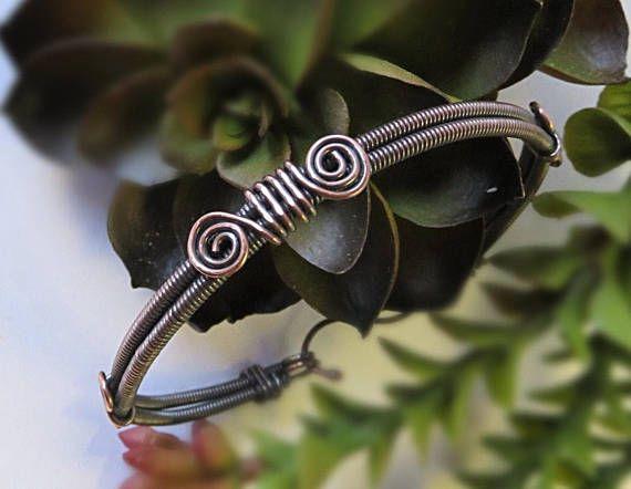 Wire Wrapped Bracelet Copper Bangle Bracelet Mens Copper