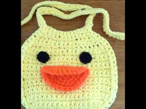 Babero de Rana tejido a crochet  | Paso a paso - YouTube