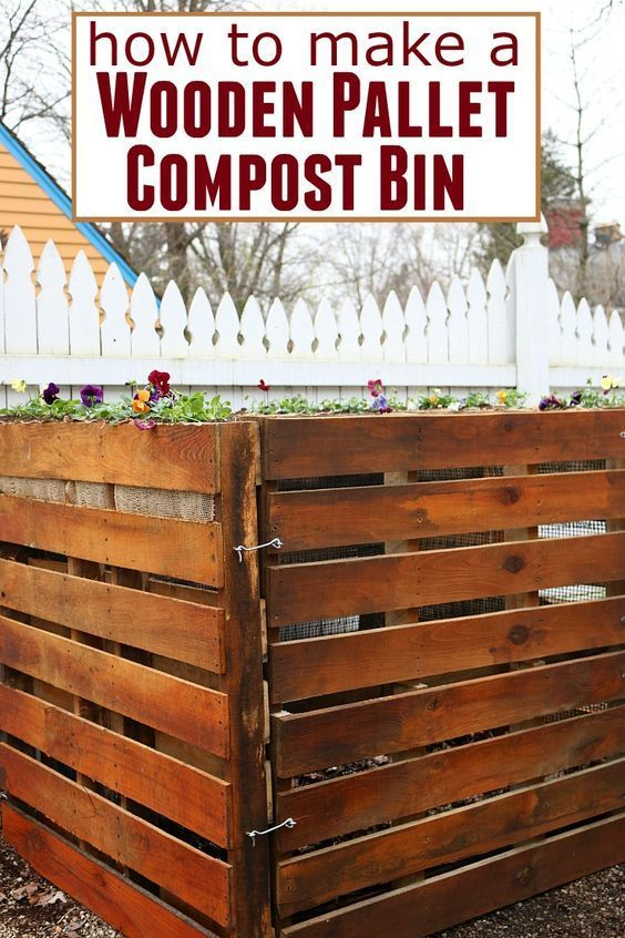 Wooden Pallet Compost Bin - Learn how to make a compost bin using wooden pallets…