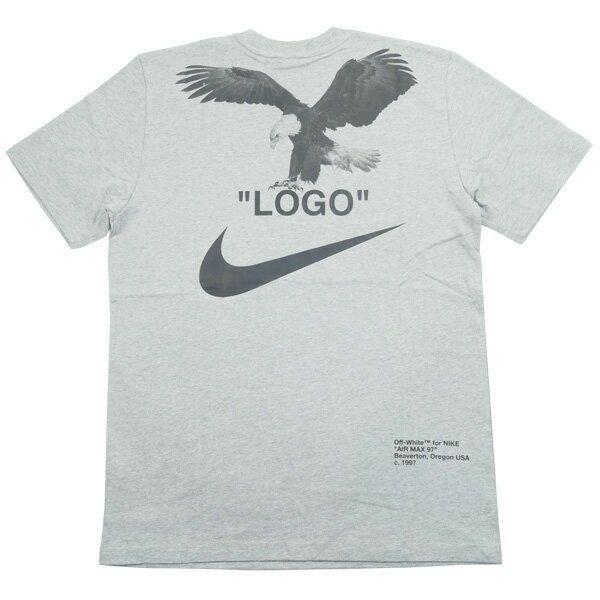 Off White Nike Nike Tee Back Eagle Logo T Shirt Gray M Fashion