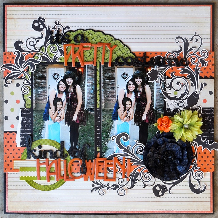 It's a Pretty Costume Kind of Halloween By: Jilliand Using The Girls Paperie - Toil and Trouble Collection- Scrapbook.com