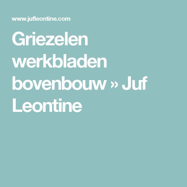 Griezelen werkbladen bovenbouw » Juf Leontine