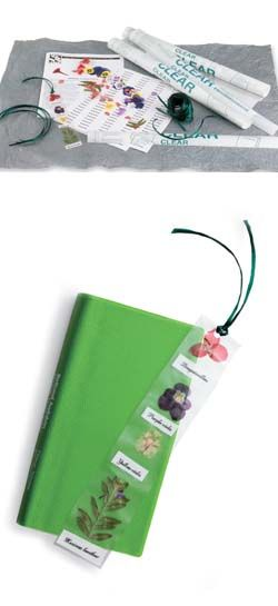 Kids Homemade Bookmark Craft Kit: Of course, we'd make this with nature items we could find without picking them so as not to disturb nature...could be fun to see what all the girls could find at camp.