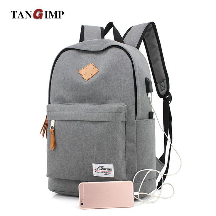 TANGIMP USB Design Backpacks Book Bags for School Man Casual Rucksack Daypack Laptop Backpacks Vintage bolsos hombre bandolera #Affiliate