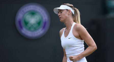 Sharapova working her new Nike dress at Wimbledon http://www.womenstennisblog.com/2014/06/12/nike/