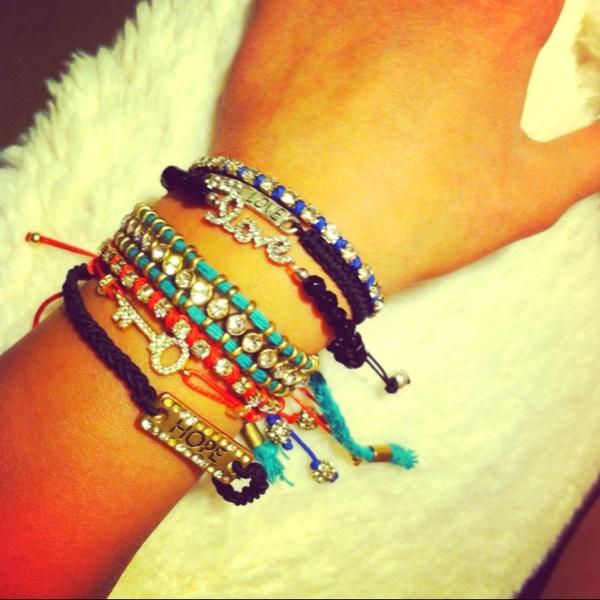 Love. All my bracelets  kellynicole02: Bling, Bracelets Bracelets, Accessories Hair Sho, Bracelets Fashion Fav, Accessories D, Awesome Bracelets 3, Love Bracelets, Bracelets Kellynicole02, Friendship Bracelets