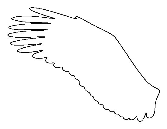 Eagle wing pattern. Use the printable outline for crafts
