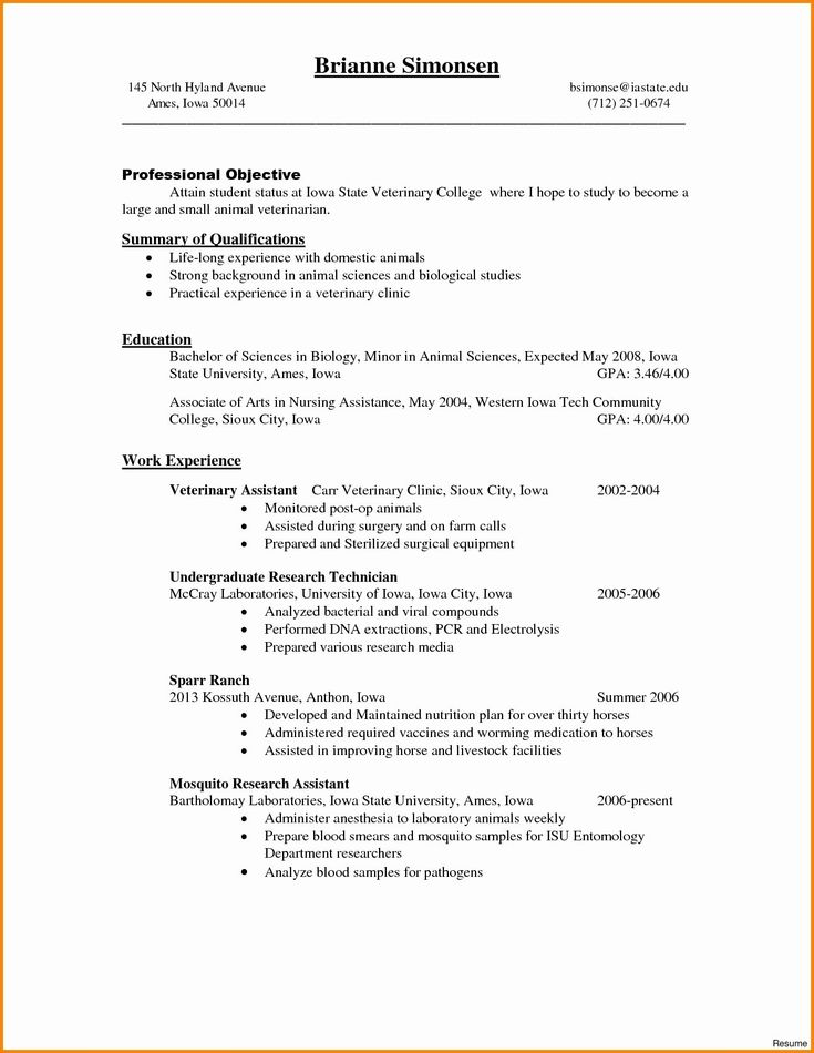 25 biology research assistant resume in 2020 job resume