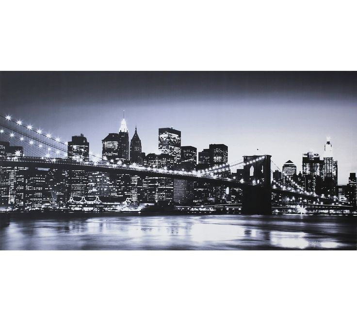 Buy Collection Manhattan Skyline Printed Canvas - Monochrome at Argos.co.uk, visit Argos.co.uk to shop online for Pictures and wall art, Wall art, pictures and photo frames, Home furnishings, Home and garden