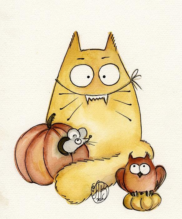 Рисунок смешных кошек могут быть