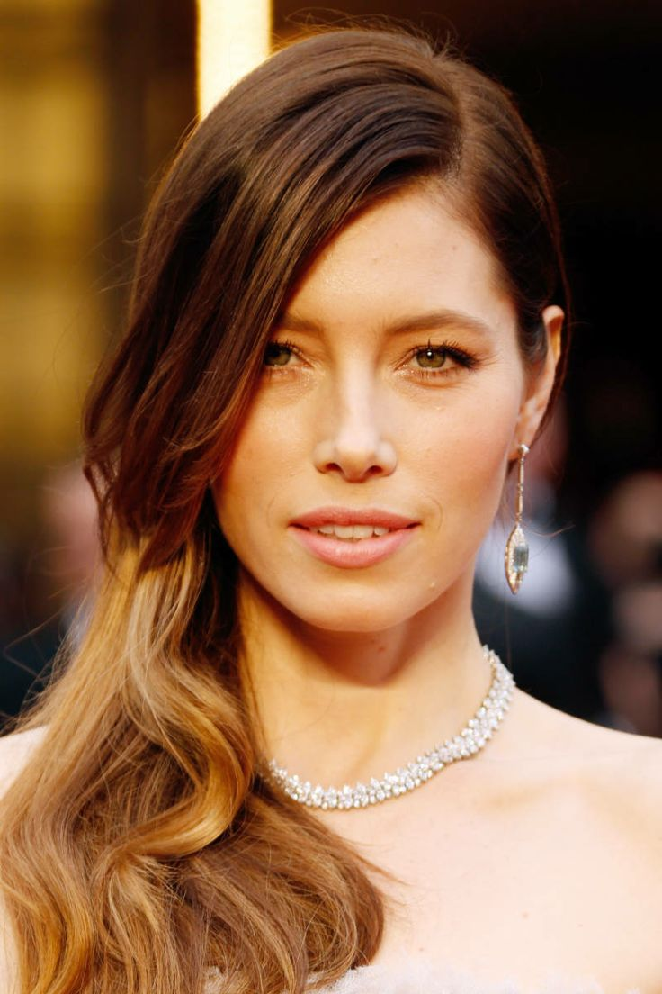 Jessica Biel Tiffany & Co Earrings And Necklace