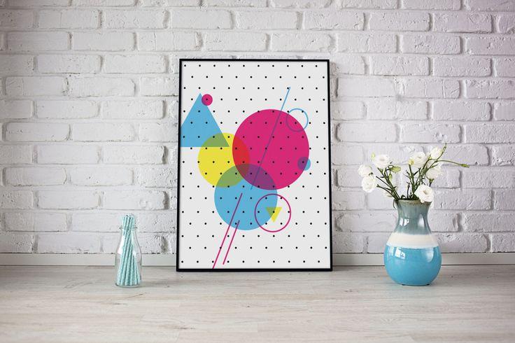 Polka Dots, Poster 50x70, Large Wall Art, Printable Art, Kids Room Decor, Scandi Print, Living Room Decor, Modern Prints, Minimalist Print by SilBarragan on Etsy