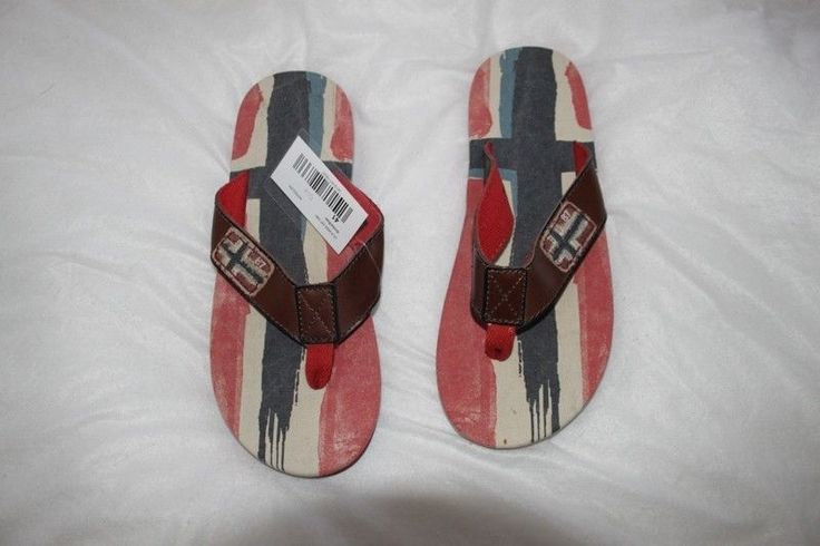 flip flops 41EU original Napapijri sandals nice colours multicolours flag norway #Napapijri #FlipFlops