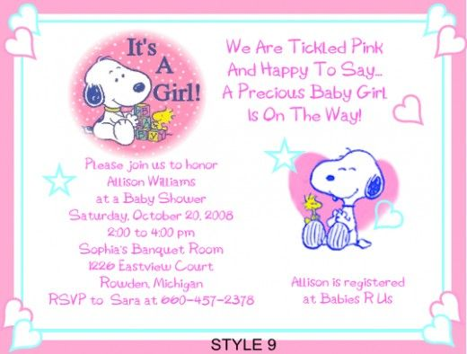 Snoopy Baby Shower Theme