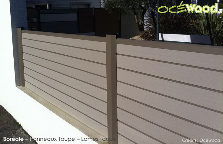 1000 id es propos de cloture en composite sur pinterest terrasse en bois composite Lame de cloture composite