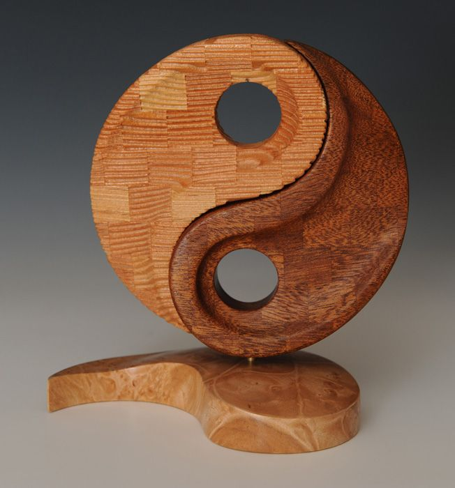 """""""Sisters Two"""" - Curt Theobald. Douglas fir, Mahogany, Quilted maple base."""