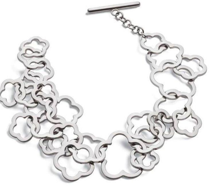 WOMEN SWATCH BIJOUX CHEMIN FLEURI STAINLESS STEEL LADIES FLOWER BRACELET JBM039U #SwatchBijoux #ChainLink