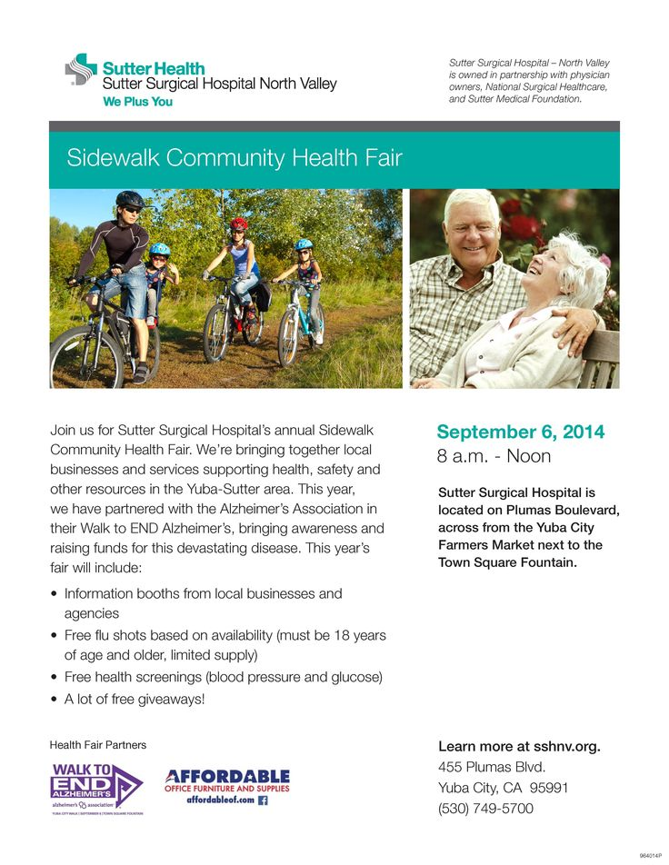 Join us on September 6th from 8am noon for Sutter