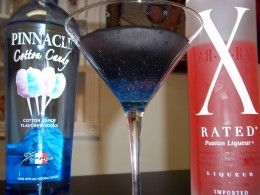 The Best Cotton Candy Martini Recipe @Heather Creswell Creswell Close (I found a cocktail for your next birthday)
