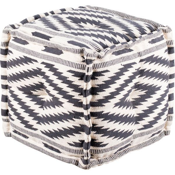 Dot & Bo Azteca Diamond Pouf - Square ($194) ❤ liked on Polyvore featuring home, furniture, ottomans, diamond furniture, square ottomans, southwest furniture, southwestern furniture and harlequin furniture