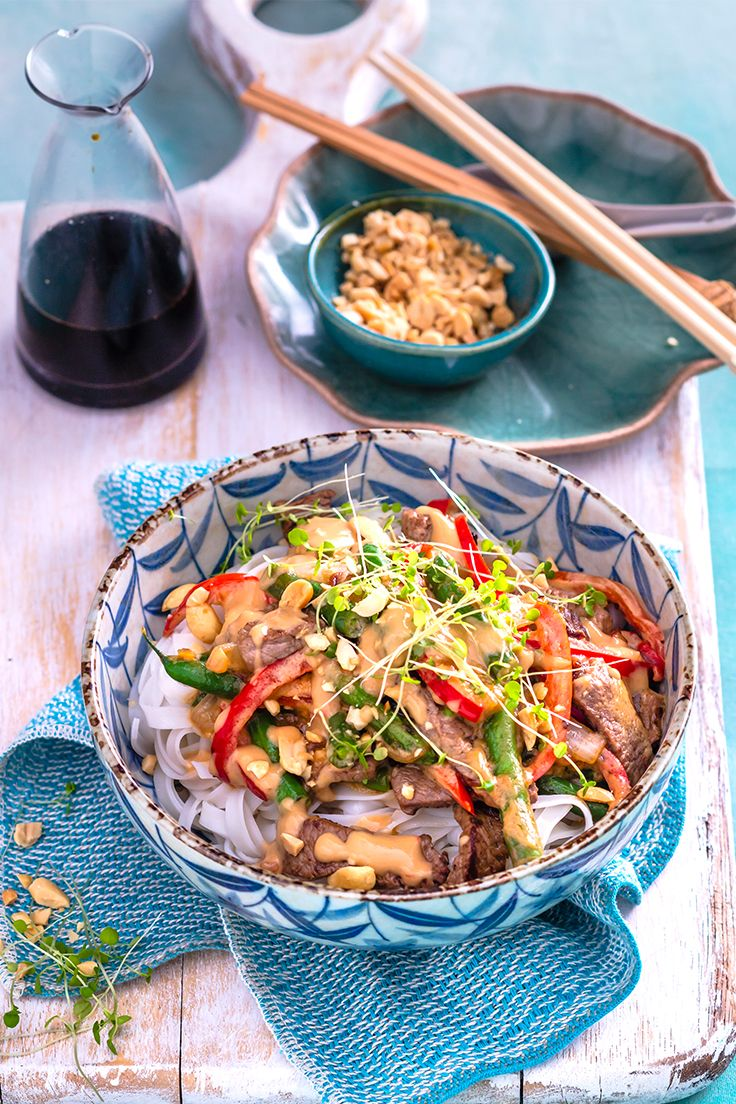 Make midweek dinners a breeze with this nutty satay dish. Just serve your stir-fried veg and beef with your choice of noodles or steamed rice for a filling meal the whole family will enjoy.