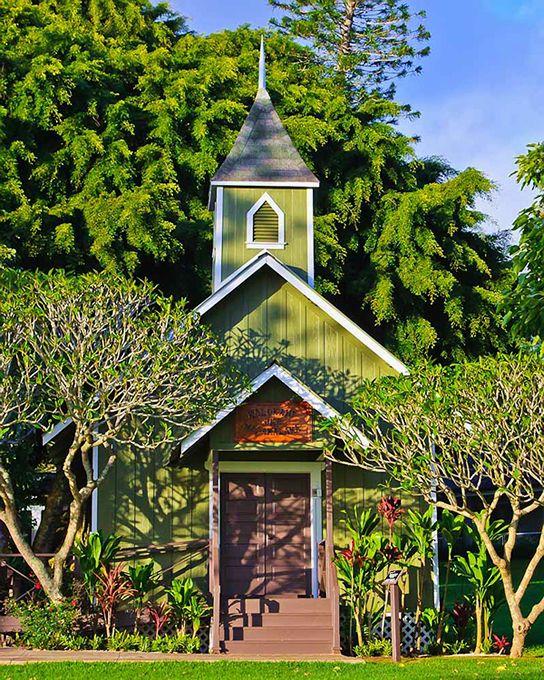 【H.I.S.】【フォーシーズンリゾート】ラナイ島。フォーシーズンズホテル内にある小さな教会。Four Seasons Resort Lana'i, The Lodge at Koele, Lanai. #travel #hawaii #hotel