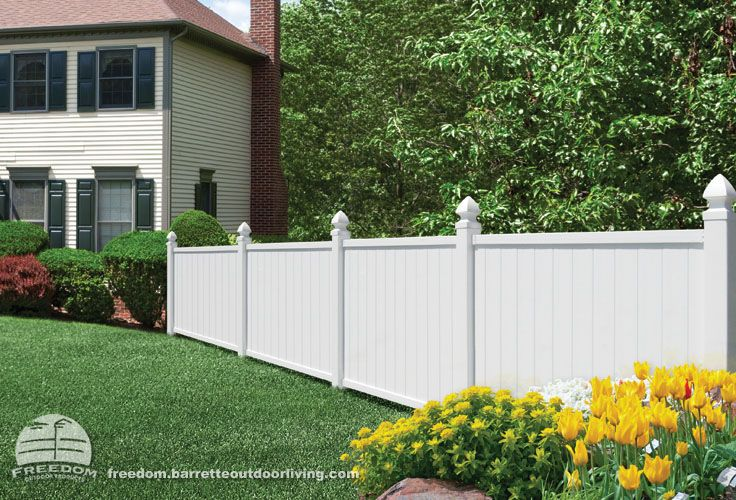 4-foot X 6-foot White Vinyl Fence With Decorative Posts